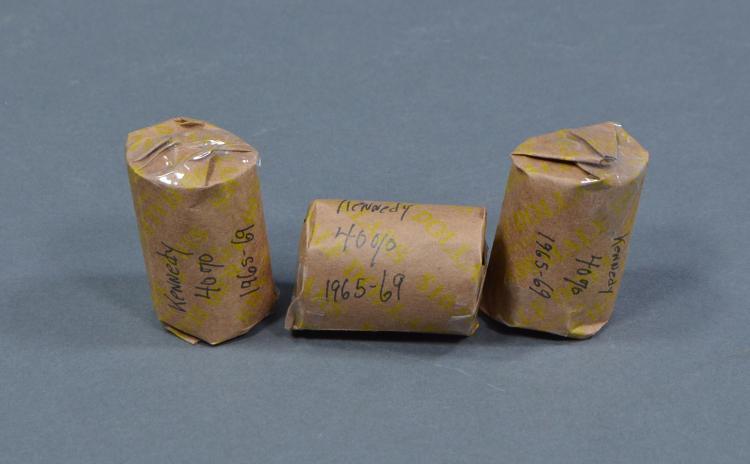 Three Rolls of Kennedy Half Dollars