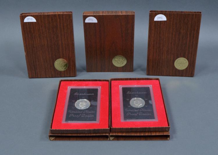 Five Proof Silver Eisenhower Dollars