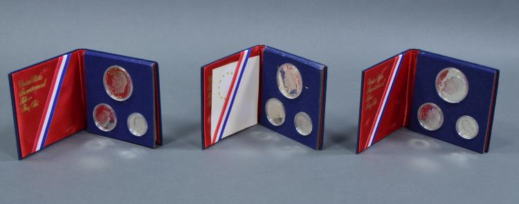 Three Bicentennial Three-Piece Proof Sets