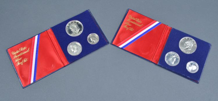 Two Bicentennial Three-Piece Proof Sets