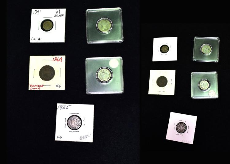 Five Obsolete Type Coins