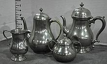 Four Pieces of Pewter Hollowware