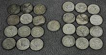 24 Kennedy Half Dollars