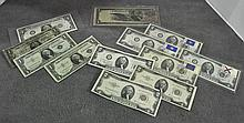 Group of US Currency Notes