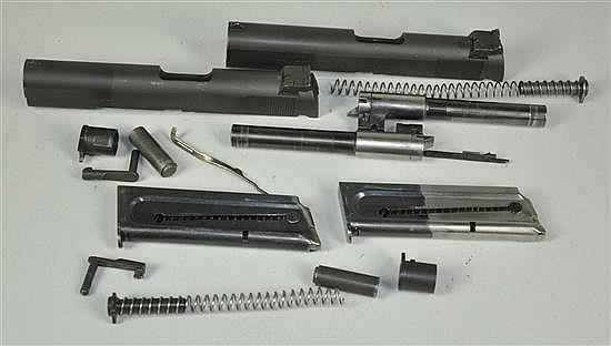 Two Colt Ace Model .22 Pistol Slides & Parts