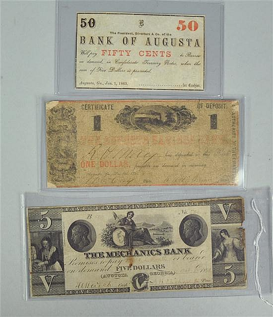 Three Obsolete Augusta, Georgia Notes