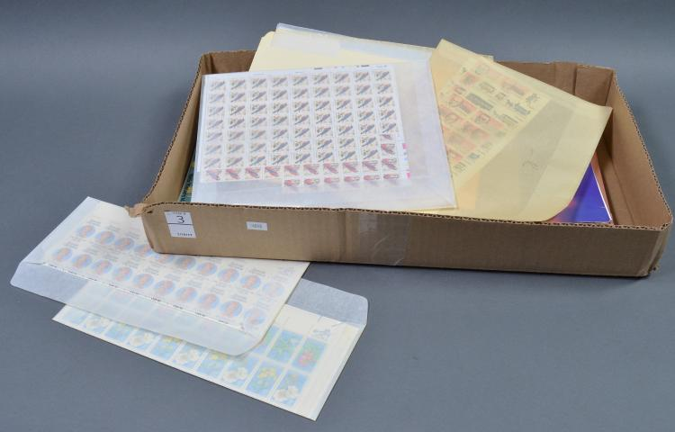 Bx Unused U.S. Postage Stamps, Sheets & Blocks