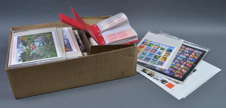 Bx Unused U.S. Postage Stamps & Plate Blocks