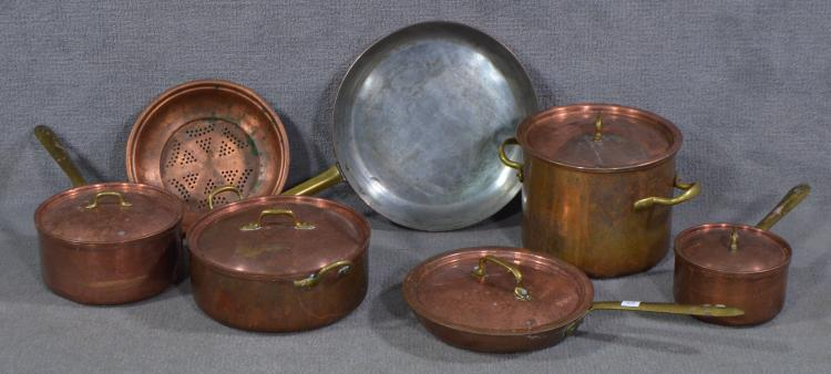 Two Bxs Seven Pcs Copper Cookware