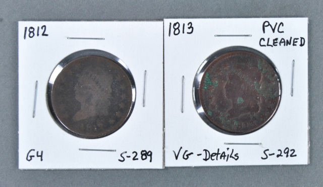 Two Classic Head Large Cents