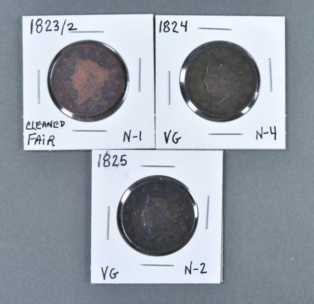 Three Better Date Coronet Head Cents
