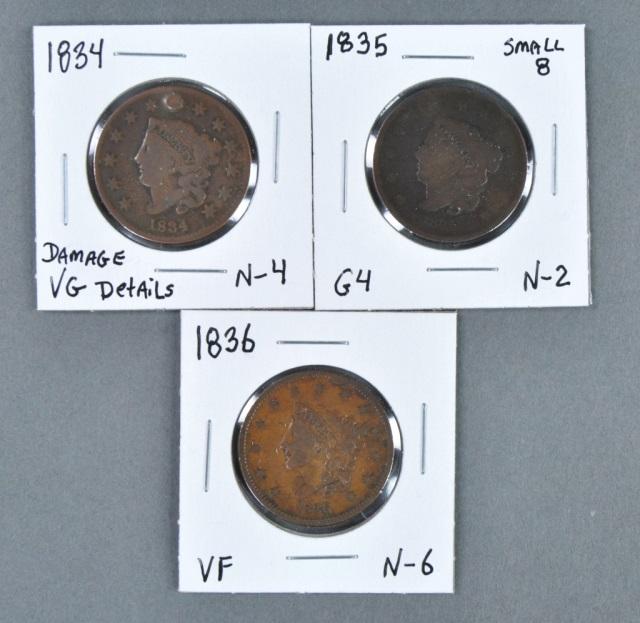 Three Large Cents