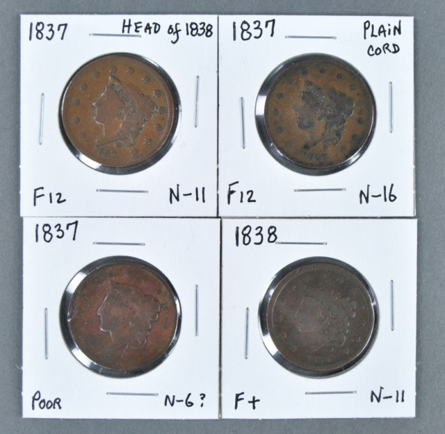 Four Large Cents-Coronets