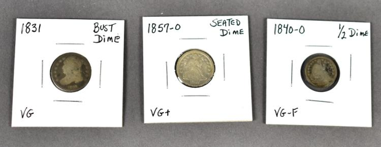 Three Obsolete Type Coins