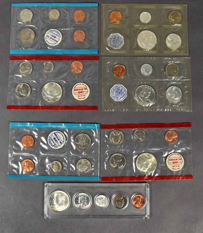 1961 & 1963 Proof Sets in Mint Envelopes