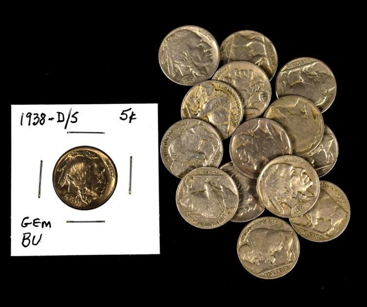 1938 Dover S Buffalo Nickel