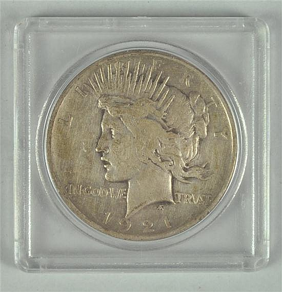 Very Scarce 1921 Peace Silver Dollar