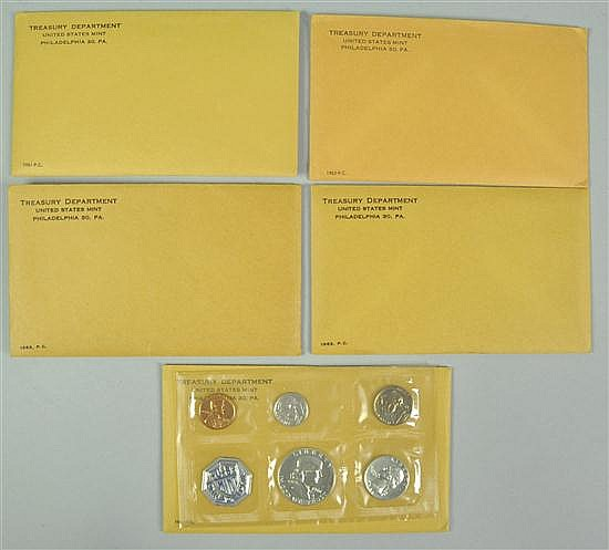 Five Silver Proof Sets