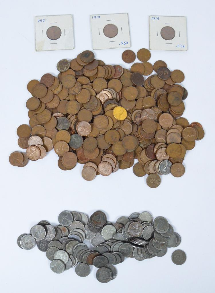 Approx. 250 Lincoln Wheat Cents