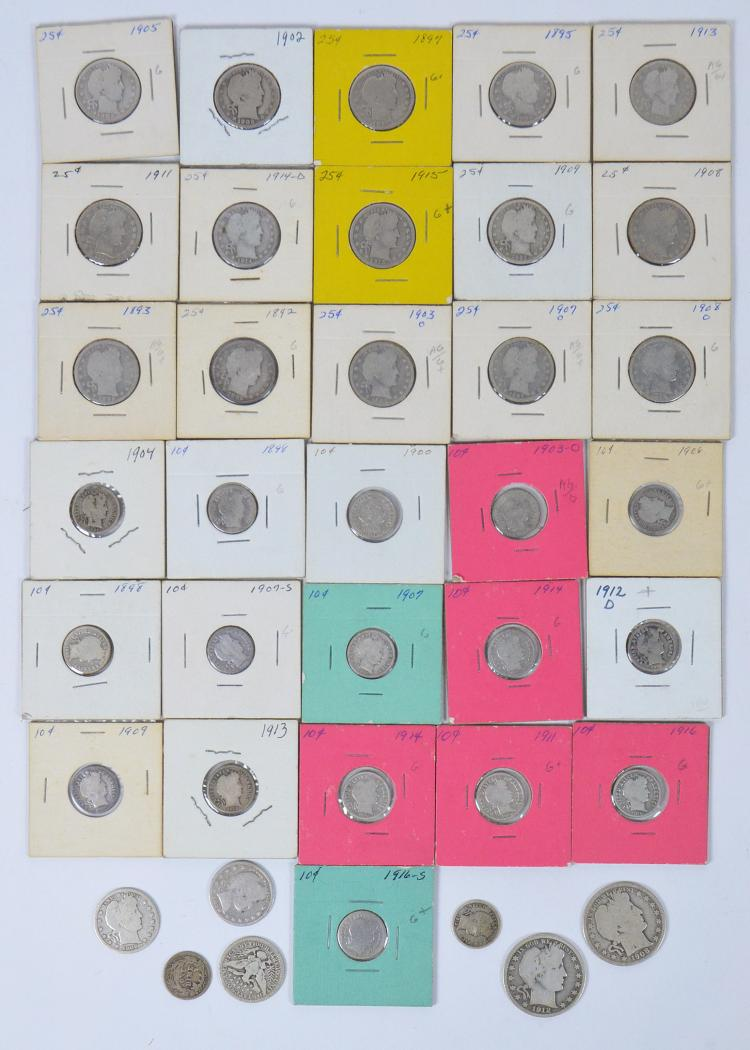 Lot of 37 Barber Coins