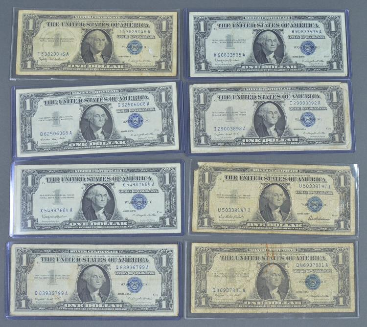 Group of 18 Silver Certificates
