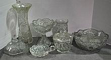 Bx Pressed & Cut Glass