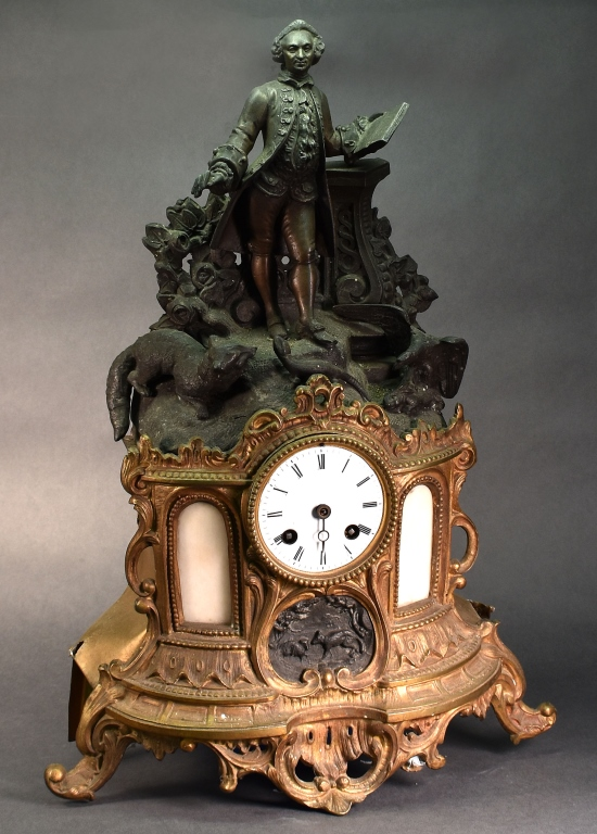 French Statue Clock