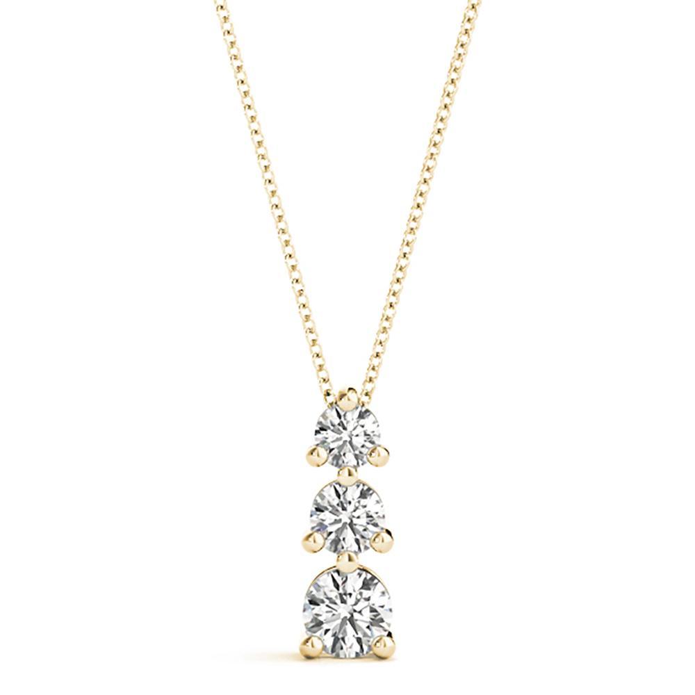 Natural 0.24 CTW Diamond Pendant 18K Yellow Gold