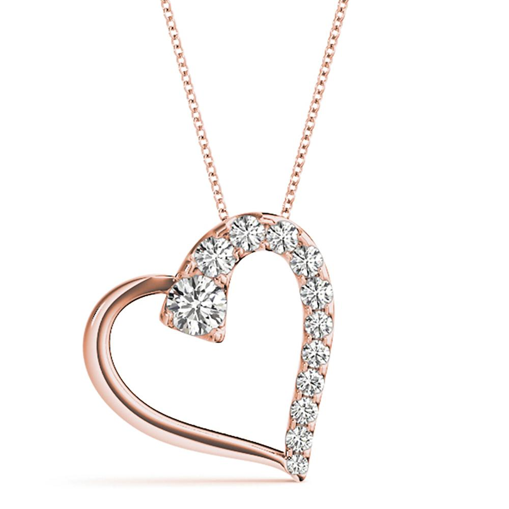 Natural 0.5 CTW Diamond Pendant 18K Rose Gold