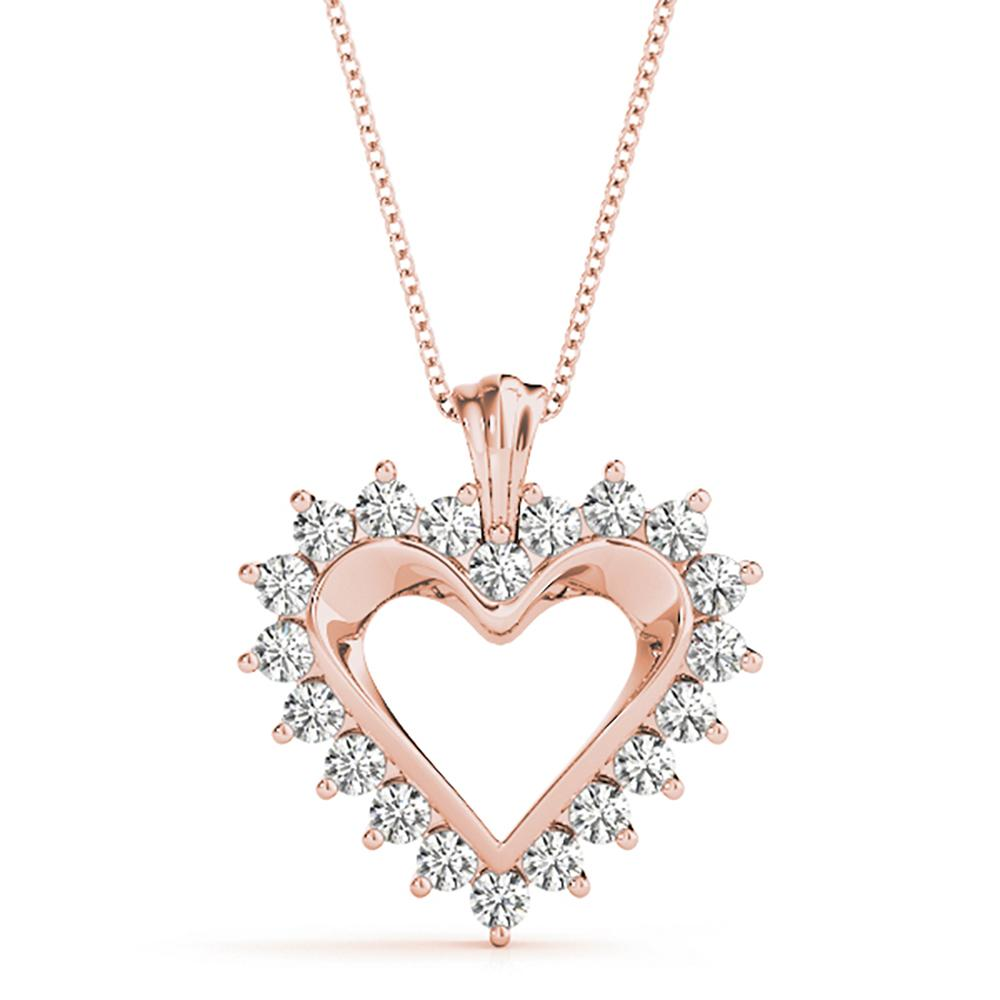Natural 0.5 CTW Diamond Pendant 14K Rose Gold
