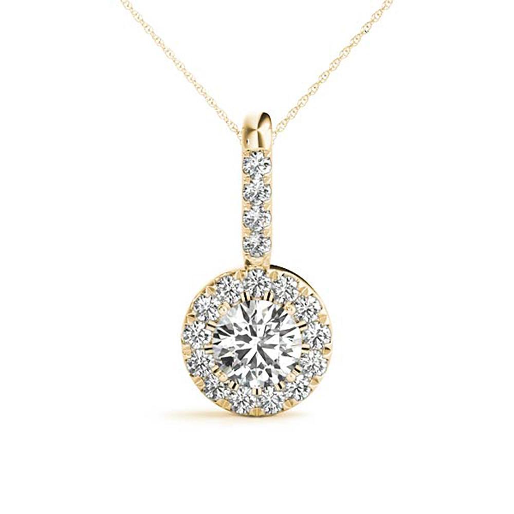 Natural 0.24 CTW Diamond Pendant 14K Yellow Gold