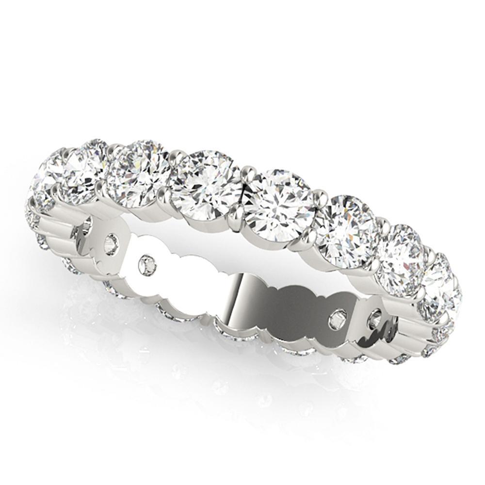 Natural 4 CTW Diamond Eternity Ring 14K White Gold