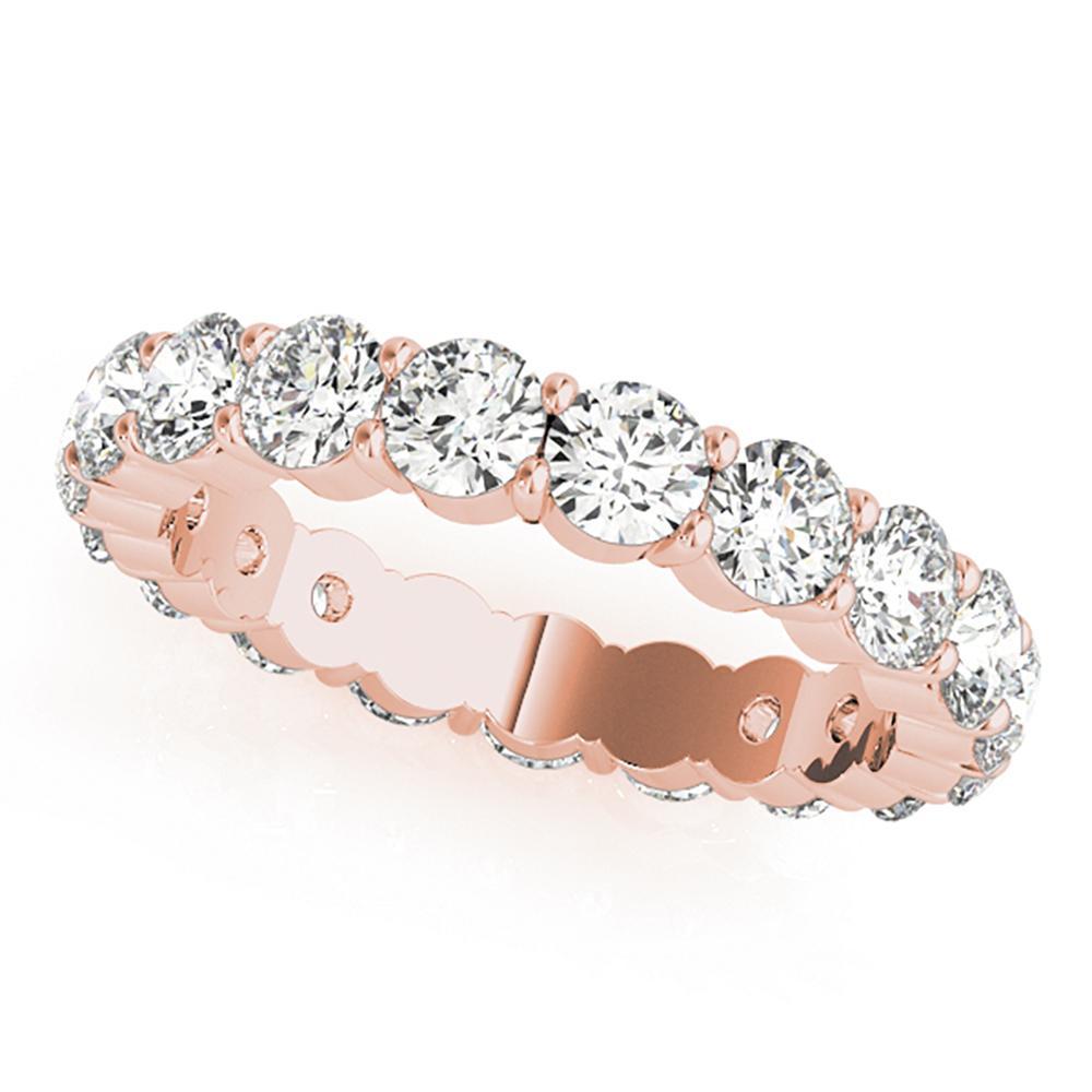 Natural 5.6 CTW Diamond Eternity Ring 18K Rose Gold
