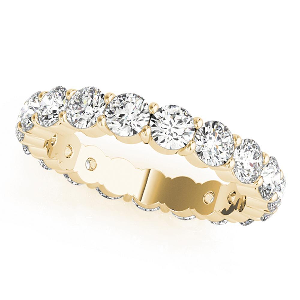 Natural 6.75 CTW Diamond Eternity Ring 18K Yellow Gold