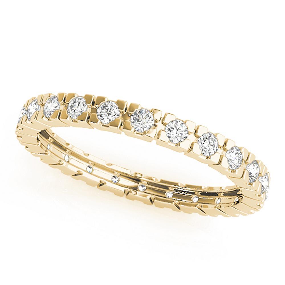 Natural 0.5 CTW Diamond Eternity Ring 18K Yellow Gold