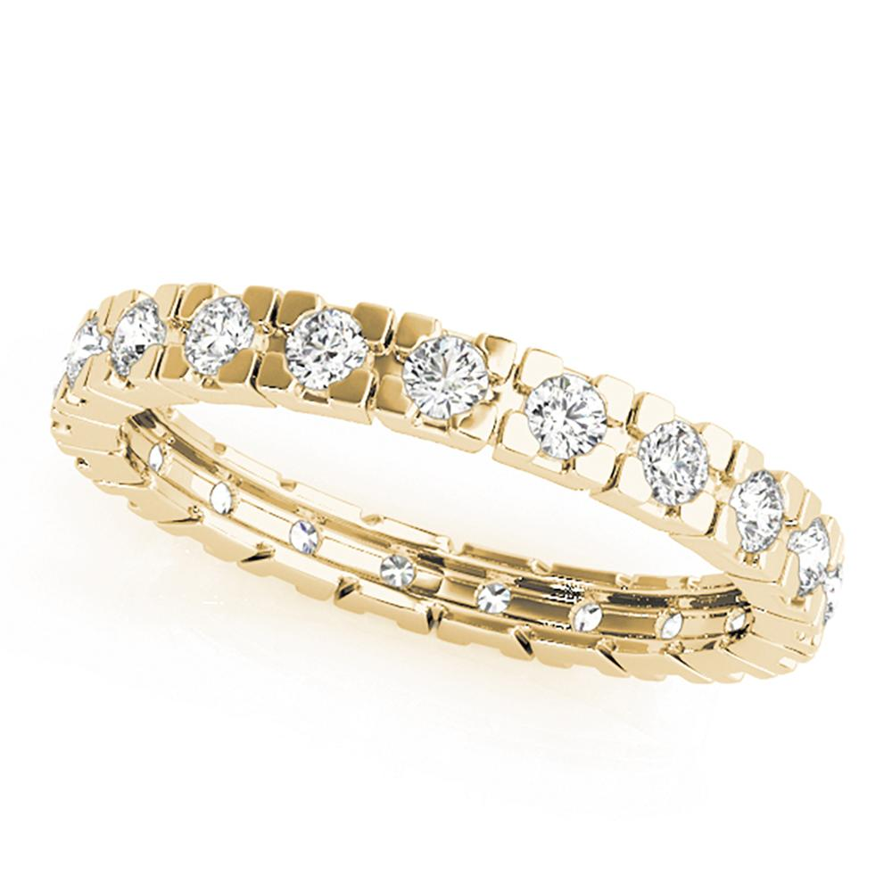 Natural 0.63 CTW Diamond Eternity Ring 18K Yellow Gold