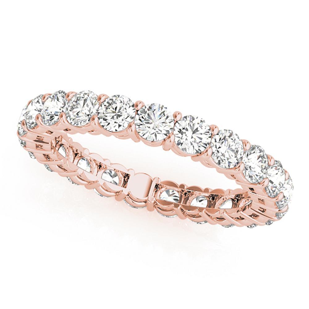 Natural 2.85 CTW Diamond Eternity Ring 18K Rose Gold