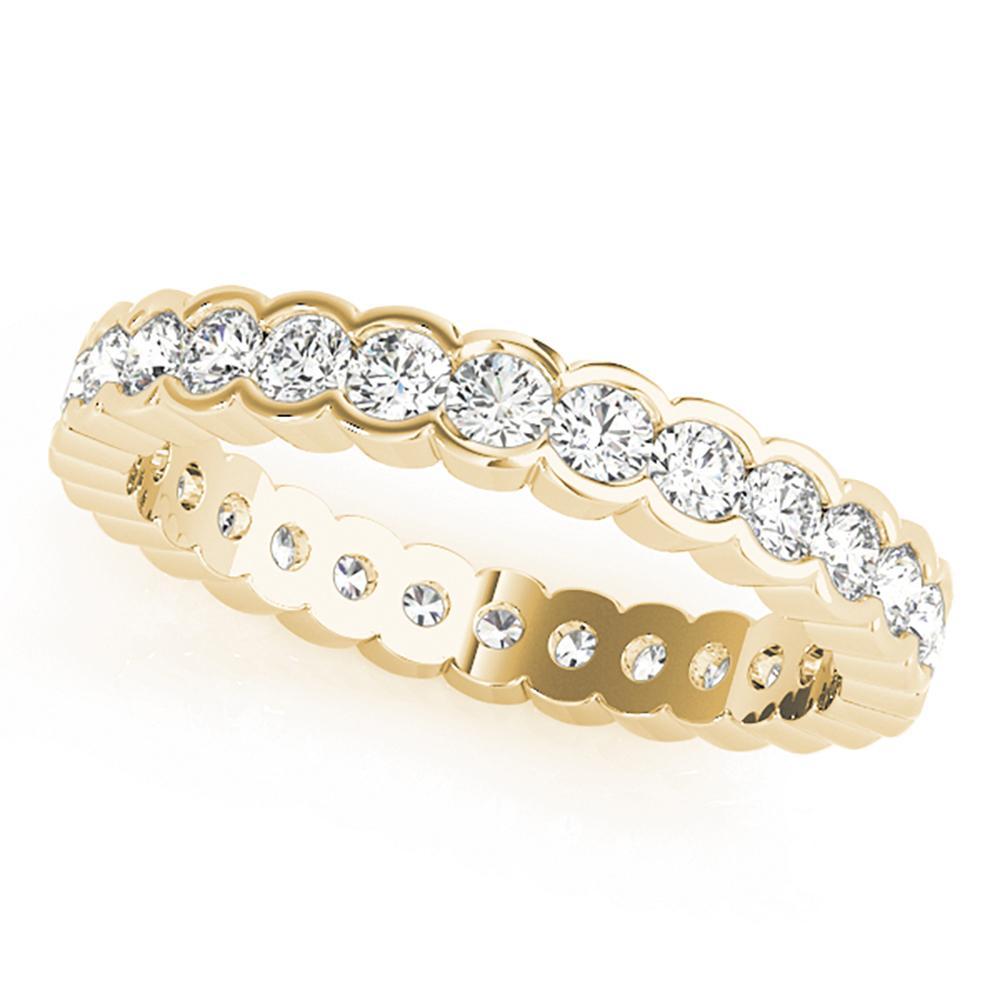 Natural 0.96 CTW Diamond Eternity Ring 18K Yellow Gold