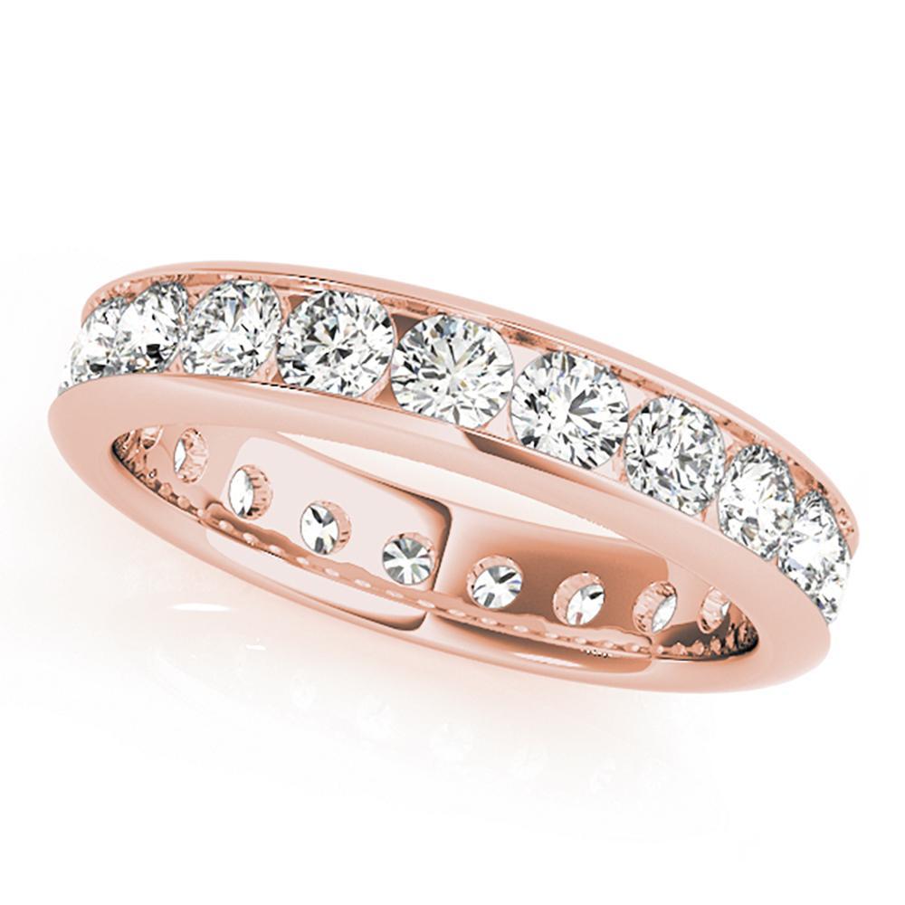 Natural 1.16 CTW Diamond Eternity Ring 18K Rose Gold