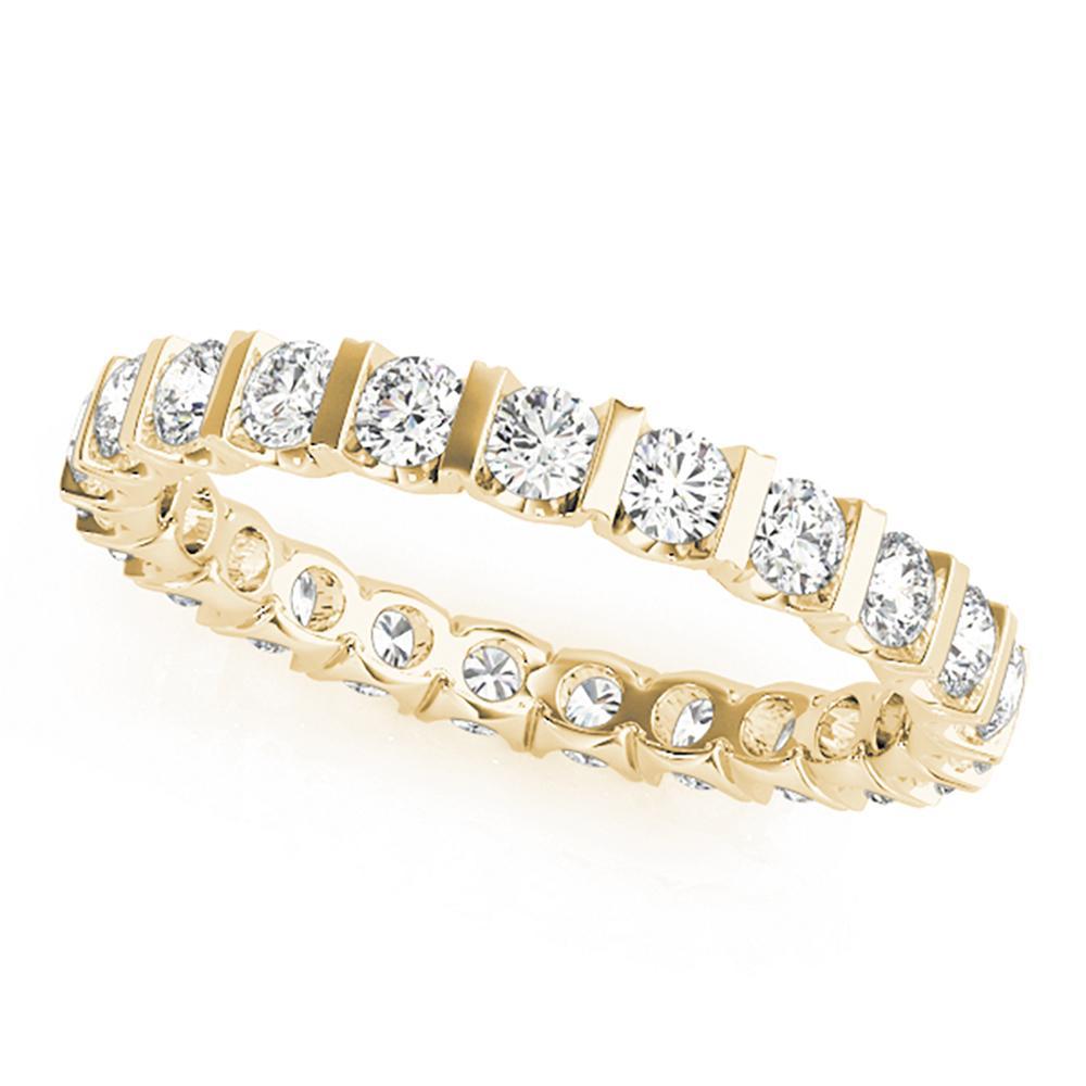 Natural 1 CTW Diamond Eternity Ring 18K Yellow Gold