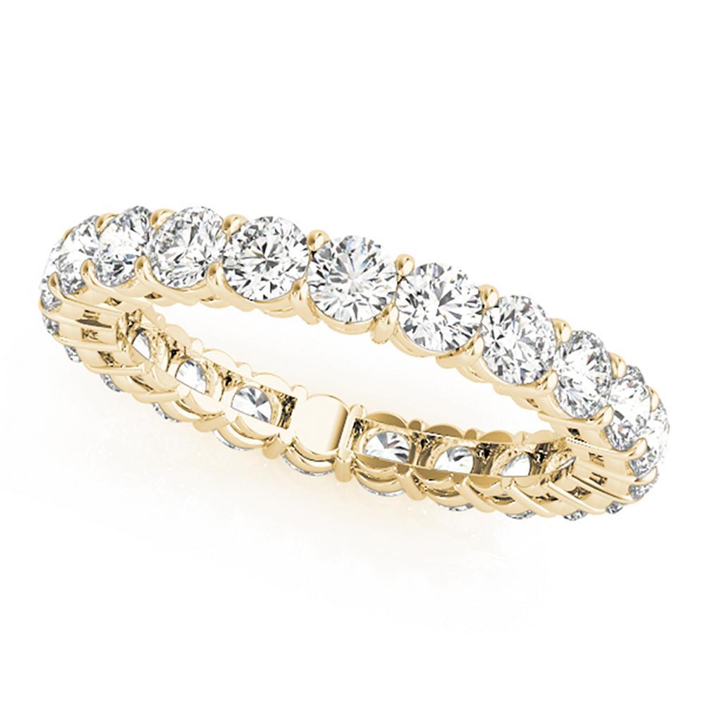Natural 3.6 CTW Diamond Eternity Ring 18K Yellow Gold