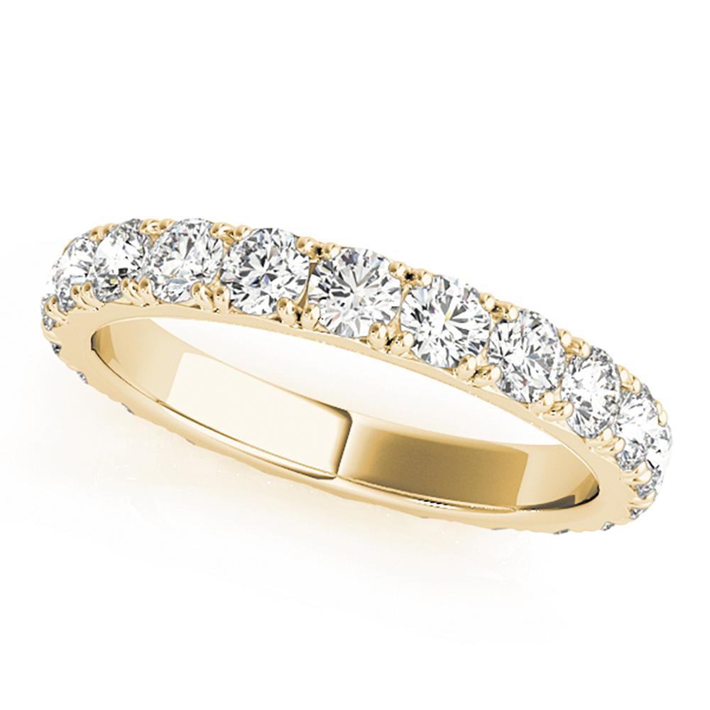 Natural 1.68 CTW Diamond Eternity Ring 18K Yellow Gold