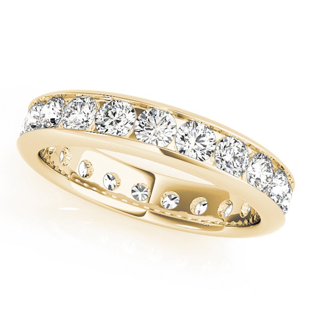 Natural 0.99 CTW Diamond Eternity Ring 14K Yellow Gold