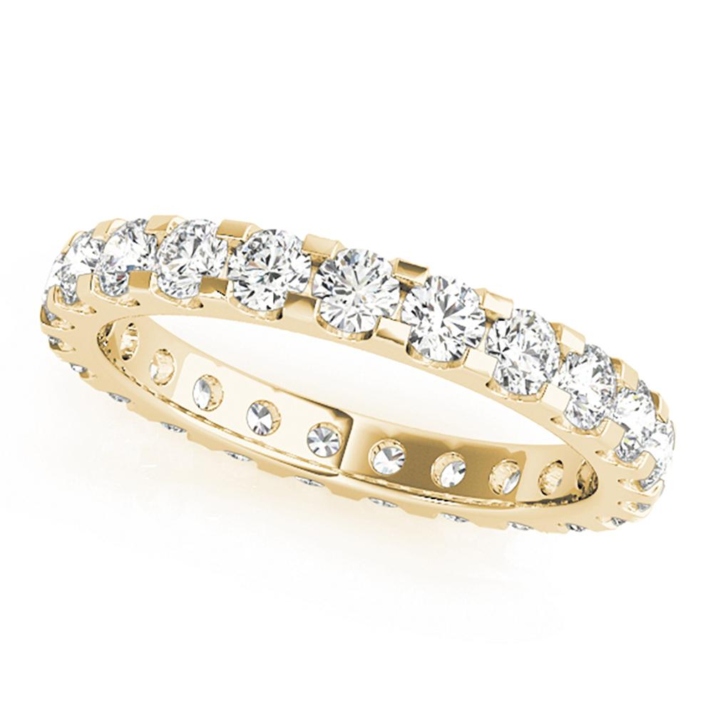 Natural 0.6 CTW Diamond Eternity Ring 18K Yellow Gold