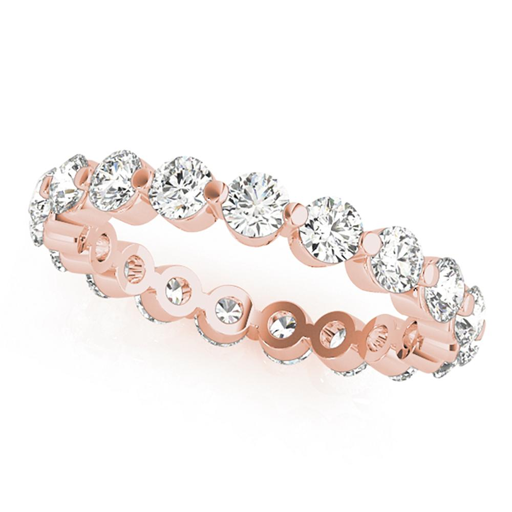 Natural 1 CTW Diamond Eternity Ring 18K Rose Gold