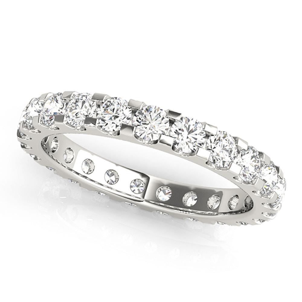 Natural 4 CTW Diamond Eternity Ring 18K White Gold