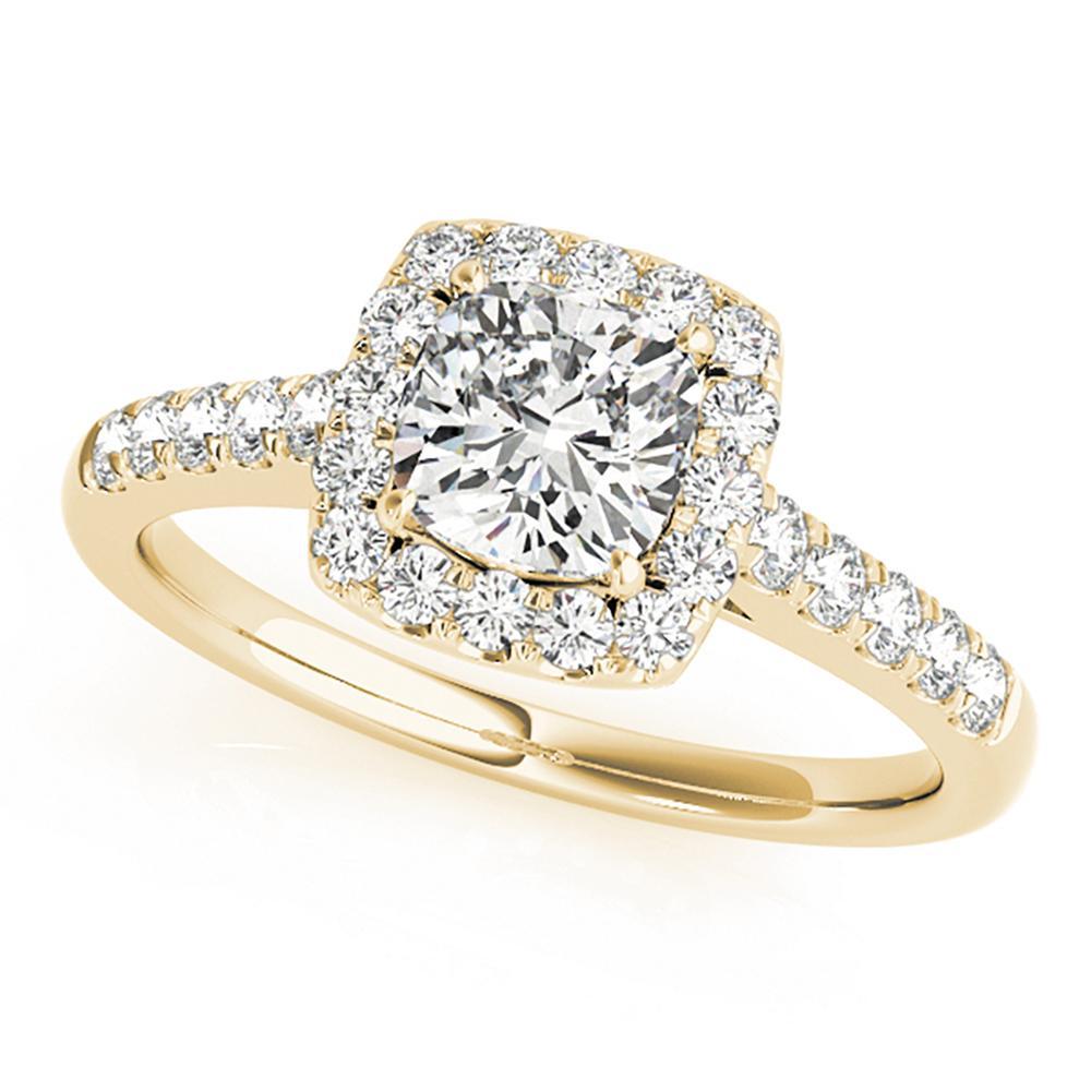 Natural 3.4 CTW Diamond Engagement Ring 14K Yellow Gold
