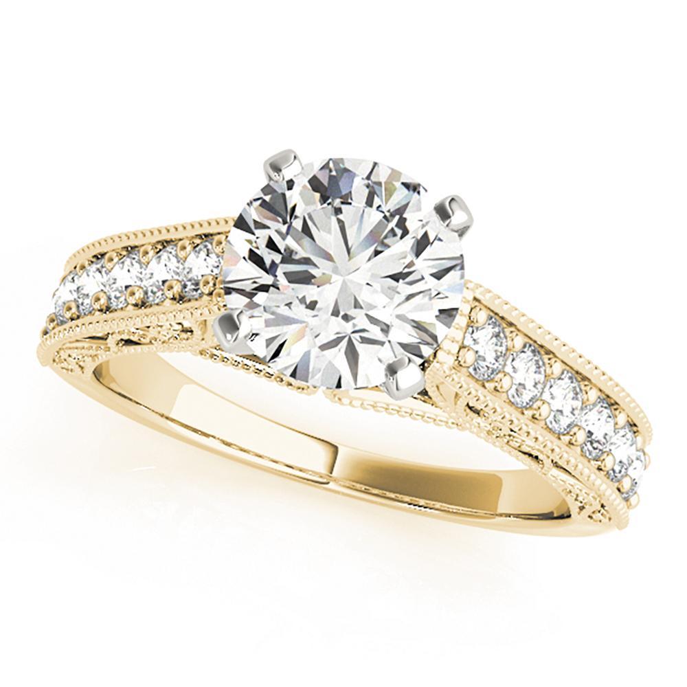 Natural 1.36 CTW Diamond Engagement Ring 18K Yellow Gold