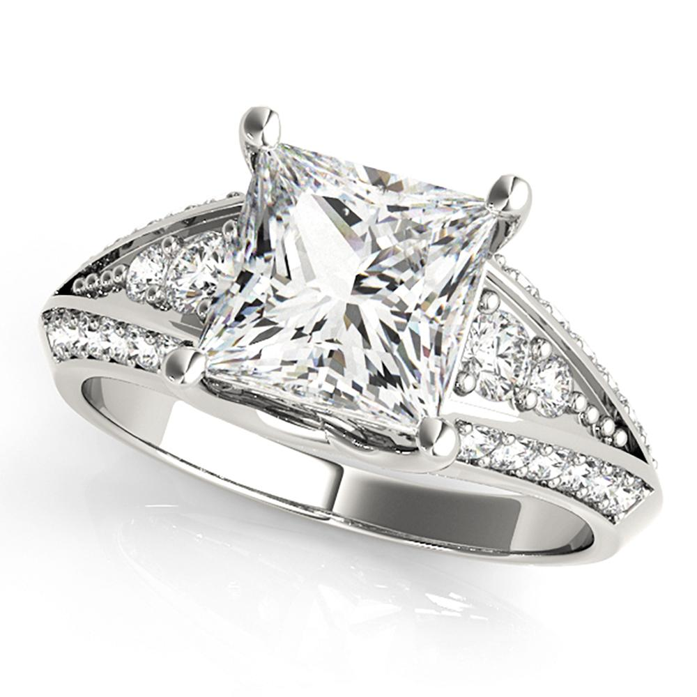 Natural 1.9 CTW Diamond Engagement Ring 14K White Gold