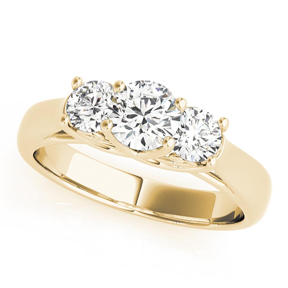 Natural 1 CTW Diamond Engagement Ring 14K Yellow Gold